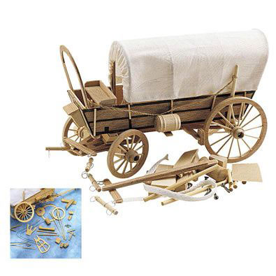 Covered Wagon Wooden Model Kit