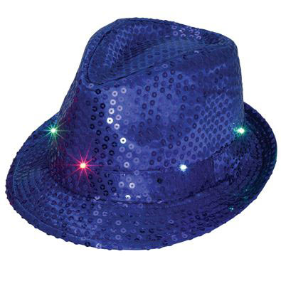 Flashing Sequin Hat Blue