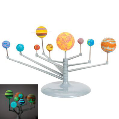 Glow-In-The-Dark Solar System Model Kit