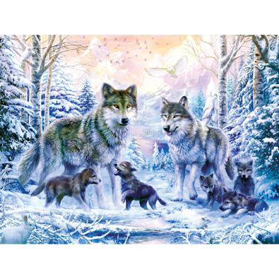 Winter Wolf Family 500 Piece Jigsaw Puzzle