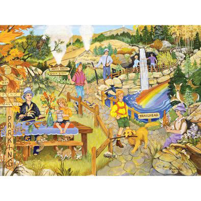 Hiking In The Park 500 Piece Jigsaw Puzzle