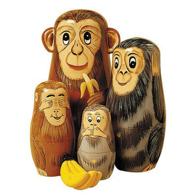 Monkeying Around Animal Nesting Doll Set