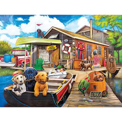 Gone Fishing 1500 Piece Giant Jigsaw Puzzle