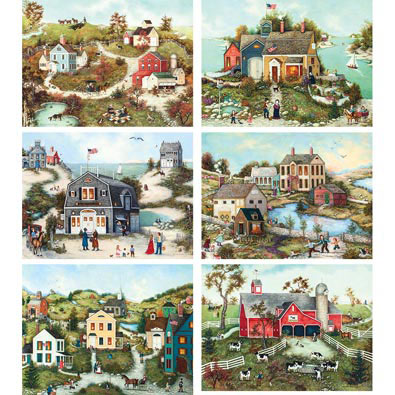 Set of 6: Linda Nelson 500 Piece Jigsaw Puzzles