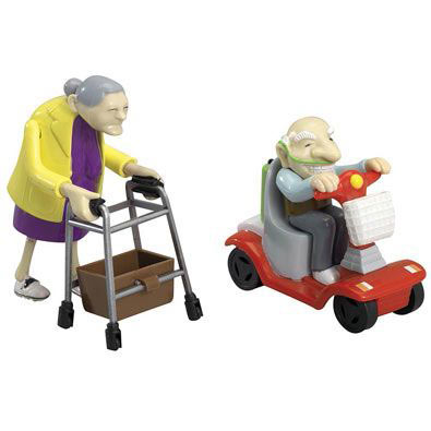 Racing Granny And Grandad