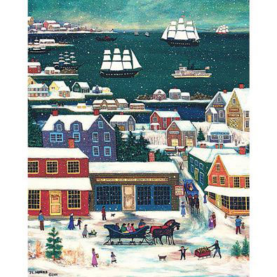 Winter In Nantucket Harbour 500 Piece Jigsaw Puzzle