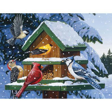 Winter Feast 300 Large Piece Jigsaw Puzzle