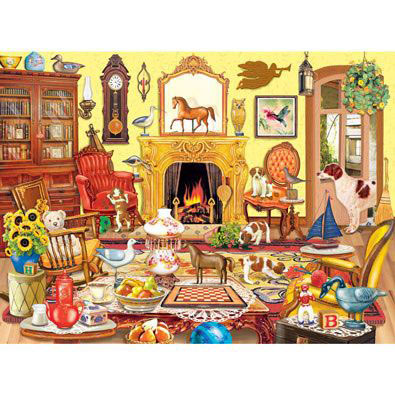 Puppies Come To Tea 1000 Piece Jigsaw Puzzle