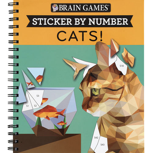 Cats Sticker By Number Book