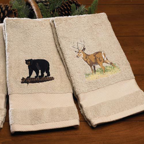 Wildlife Embroidered Wash Cloth - Deer