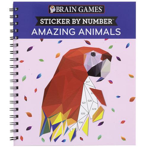 Amazing Animals Sticker by Number Books