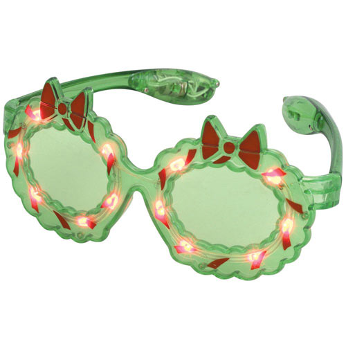 Holiday Wreath LED Light Up Glasses