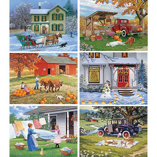 Set of 6: John Sloane 500 Piece Jigsaw Puzzles