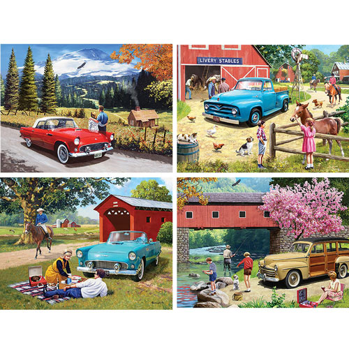 Set of 4: Kevin Walsh 1000 Piece Jigsaw Puzzles