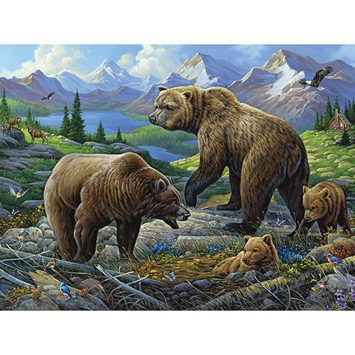 Grizzly Country 1000 Piece Jigsaw Puzzle