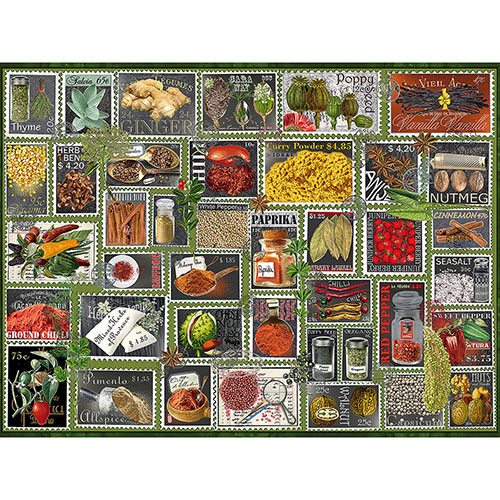 Stamp Spices 500 Piece Jigsaw Puzzle