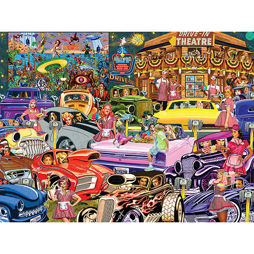 The Drive In 500 Piece Jigsaw Puzzle