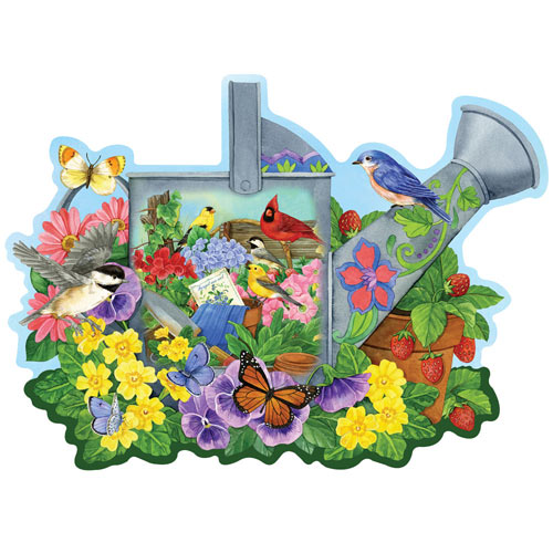 Garden Watering Can 300 Large Piece Shaped Jigsaw Puzzle