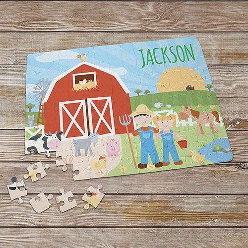 Personalized Kid's Puzzles - Farmland Fun