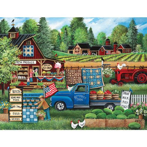 Buttermilk Farm Summer 300 Large Piece Jigsaw Puzzle