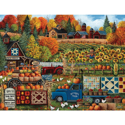 Buttermilk Farm Fall 300 Large Piece Jigsaw Puzzle