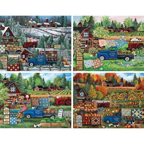 Set of 4: Debbi Wetzel 300 Large Piece Jigsaw Puzzles