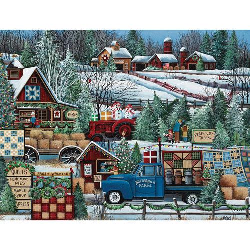 Buttermilk Farm Winter 1000 Piece Jigsaw Puzzle