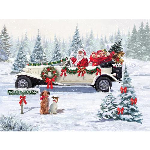 Santa's Car 300 Large Piece Jigsaw Puzzle