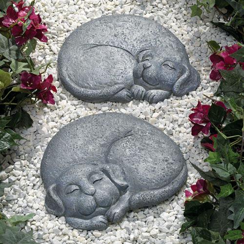 Sleeping Dog Stepping Stone - Facing Right