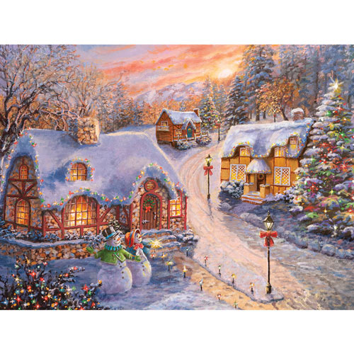 Winter Cottage Glow 300 Large Piece Jigsaw Puzzle