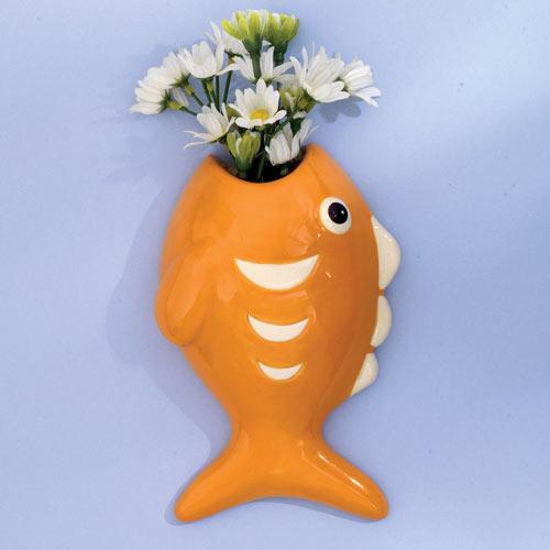 Ceramic Fish Wall Vase