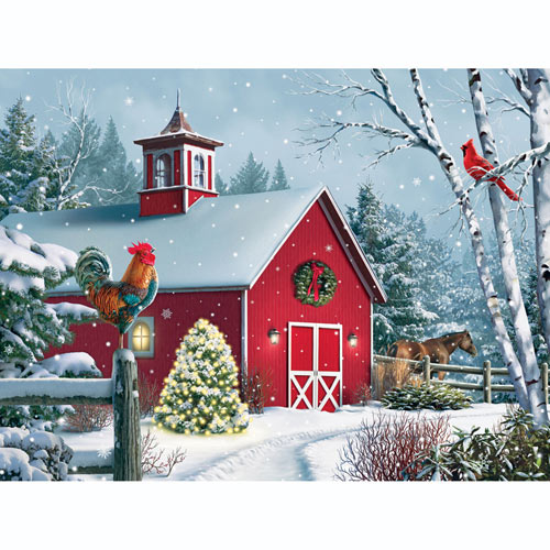 Winter Barn II 300 Large Piece Jigsaw Puzzle