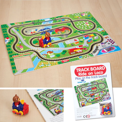 Windup Train and Track Action Toy