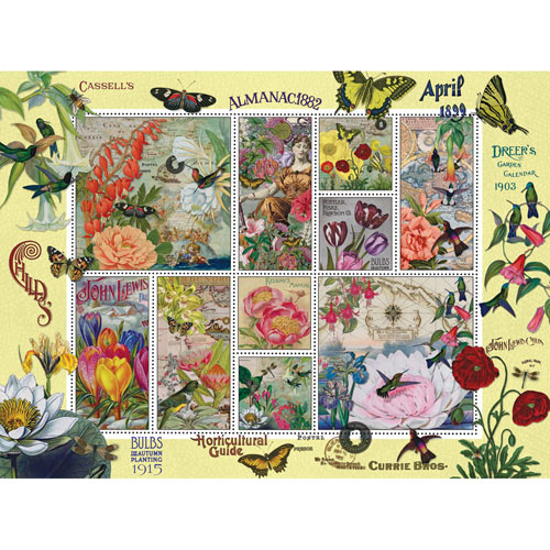 Flowers and Butterflies Quilt 500 Piece Jigsaw Puzzle