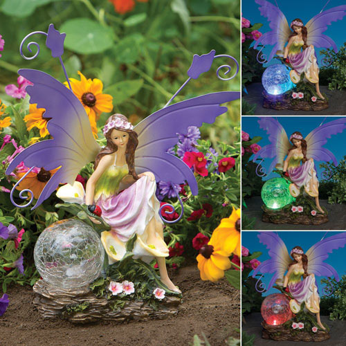 Color Changing Solar Fairy Garden Statue