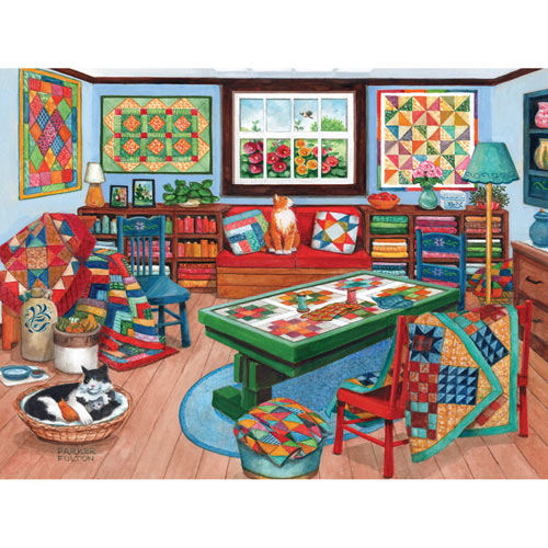 Quilting Room 300 Large Piece Jigsaw Puzzle