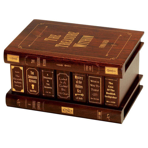 Treasure within Secret Book Box Brainteaser