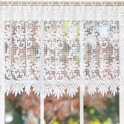 Garden Trellis Lace Valance