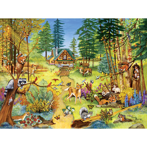 Forest Clearing 500 Piece Jigsaw Puzzle