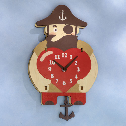 Pirate Moving Wall Clock