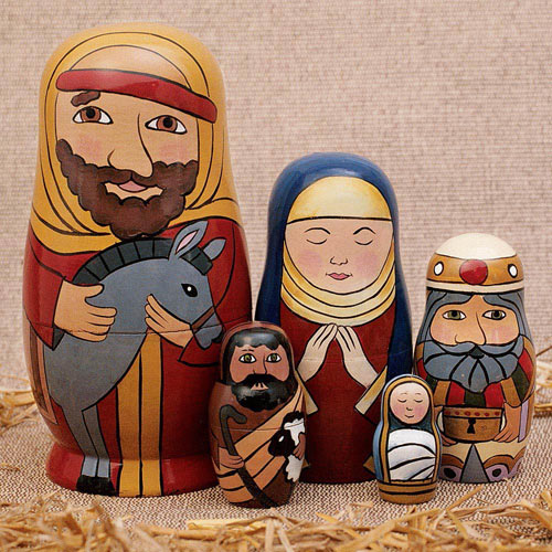 Holy Family Nesting Doll Set