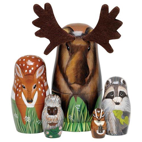 Woodland Creatures Animal Nesting Doll Set