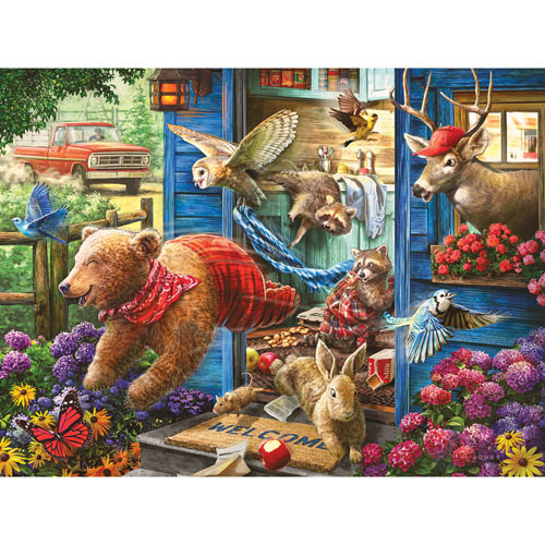 Who Left the Door Open? 300 Large Piece Jigsaw Puzzle