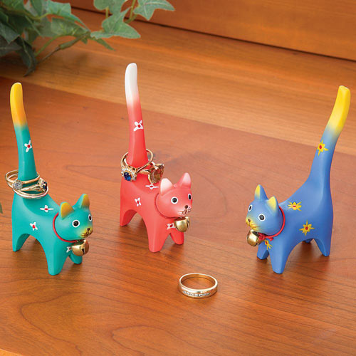 Three Colorful Cat Ring Holders