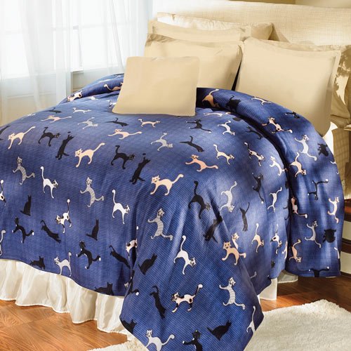 Cuddly Cats Fleece Blankets And Accessories