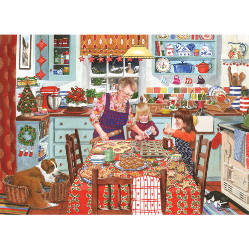 Grandma's Kitchen Mince Pies 300 Large Piece Jigsaw Puzzle