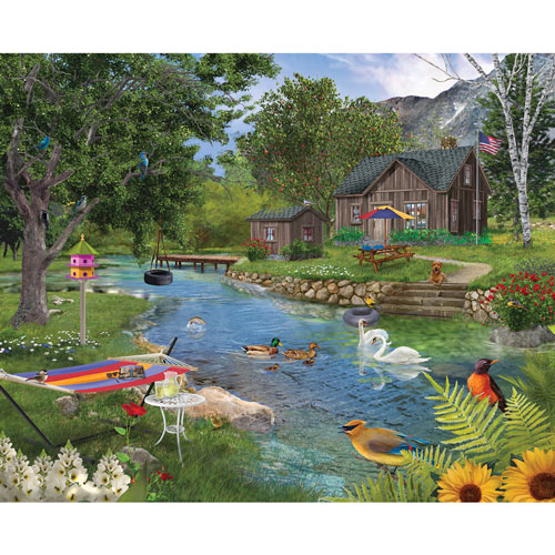 Summer Cabin 500 Piece Jigsaw Puzzle