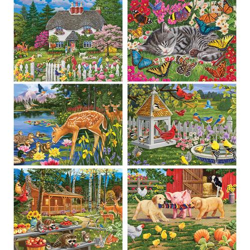 Set of 6: William Vanderdasson 500 Piece Jigsaw Puzzles