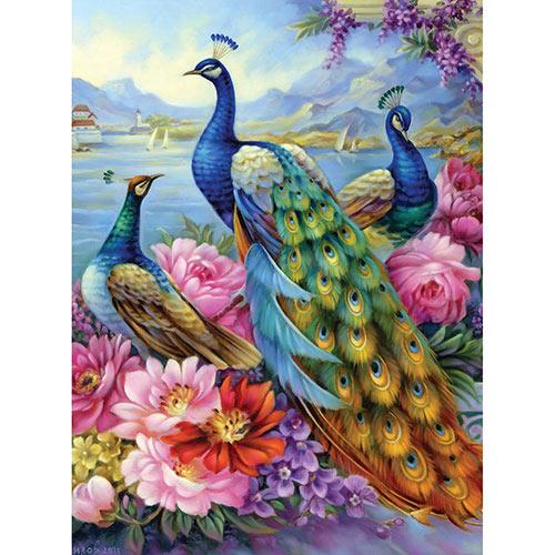 Peacocks 300 Large Piece Jigsaw Puzzle