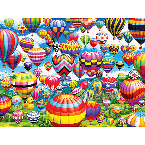 Colorful Balloons In The Sky 500 Piece Jigsaw Puzzle
